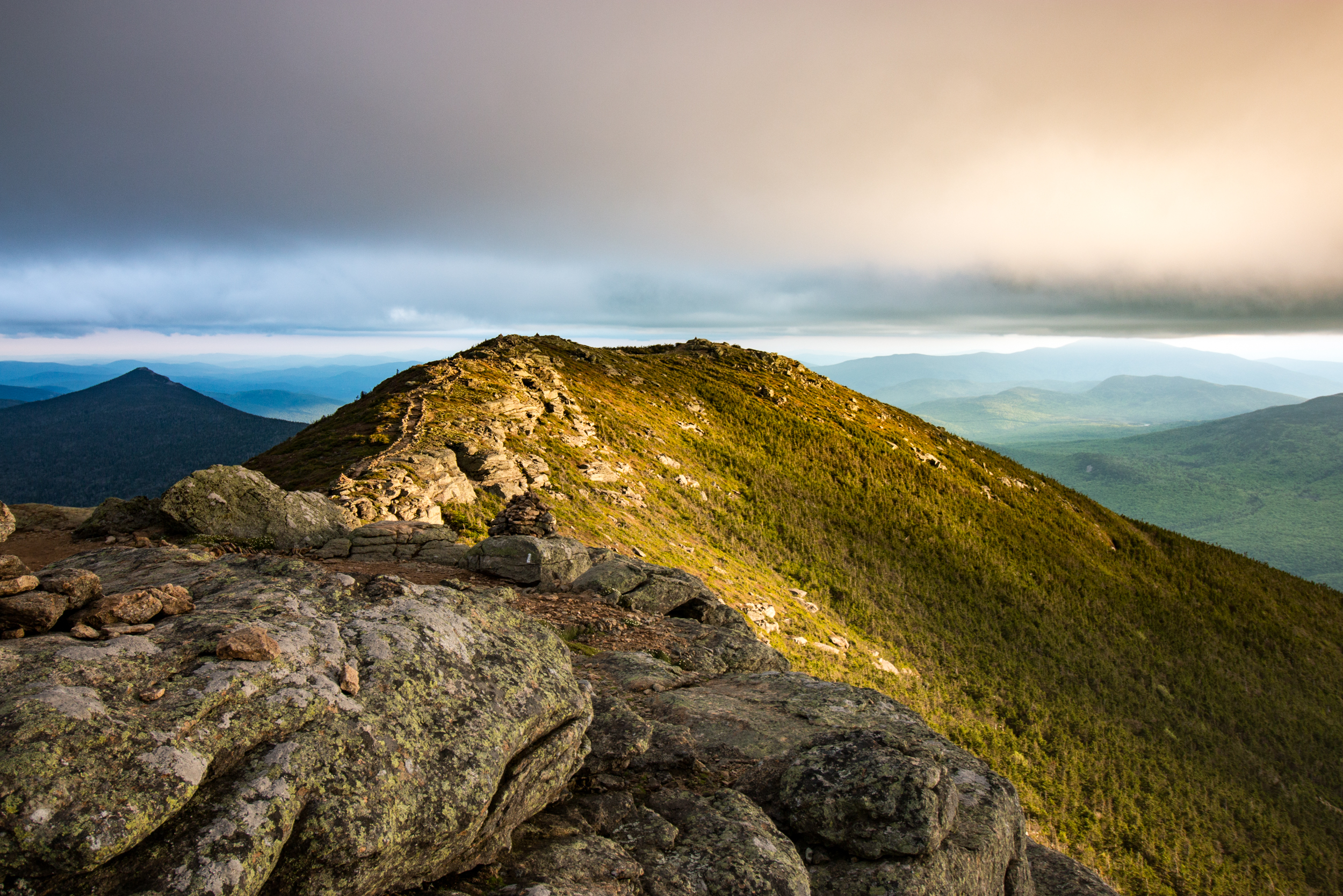 Franconia Ridge catching the golden hour.