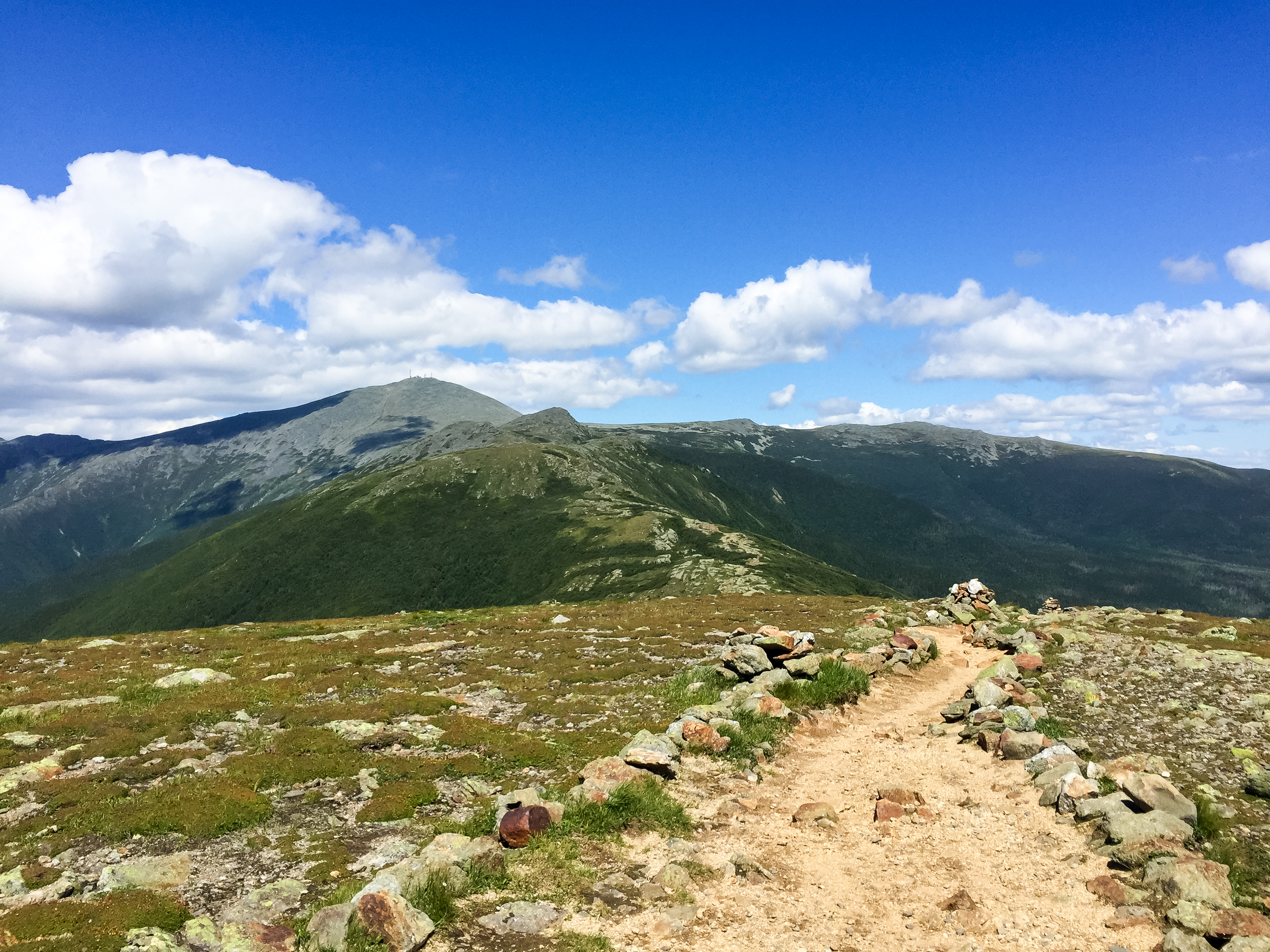 View of the Southern Presidentials from Summit of Pierce.