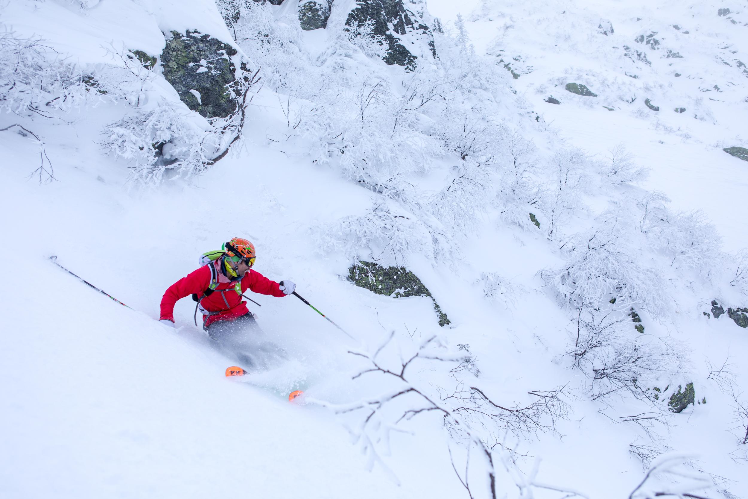 Andrew Drummond Skiing Tuckerman Ravine