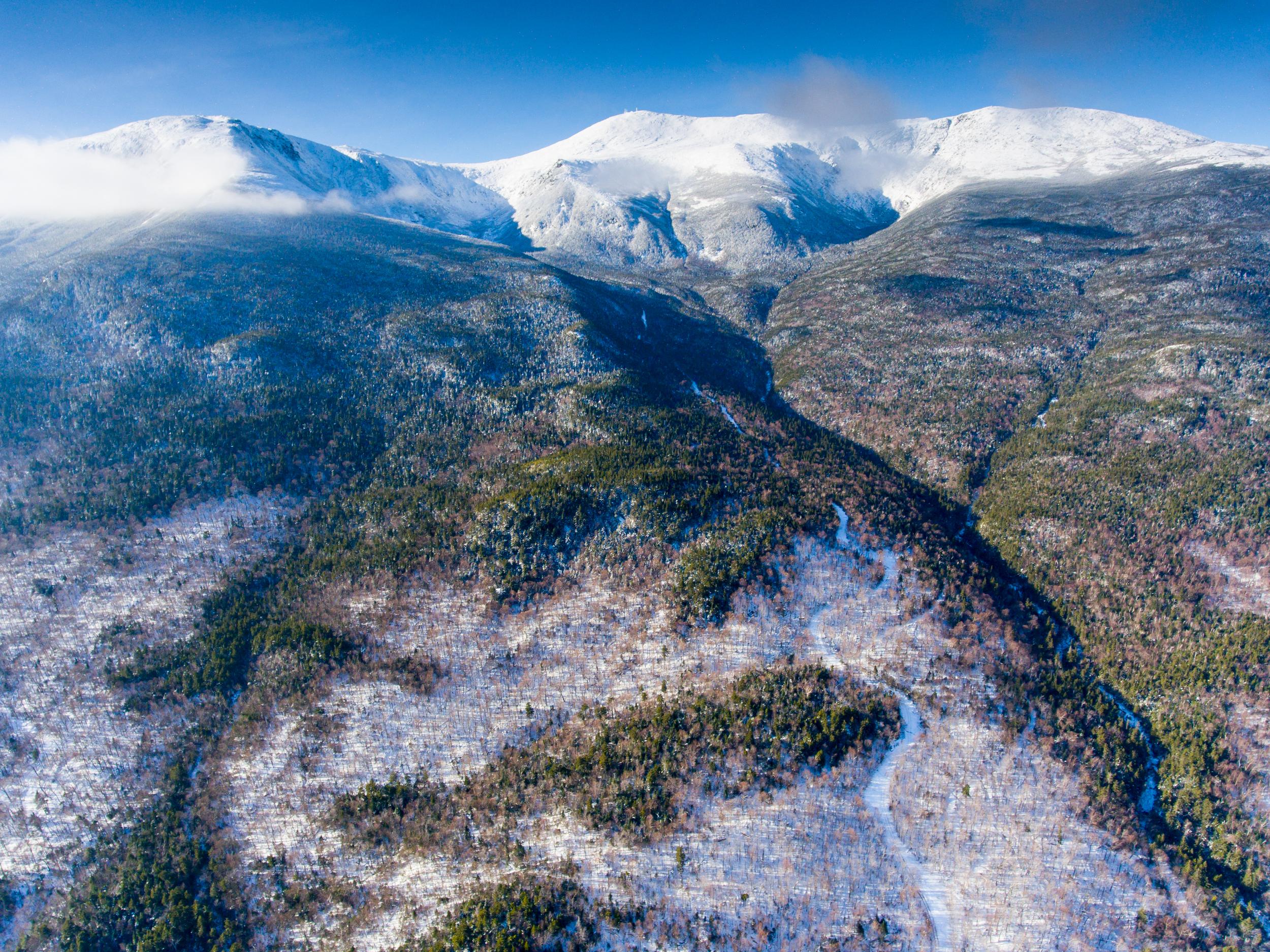 Mount Washington Sherburne Trail Aerial