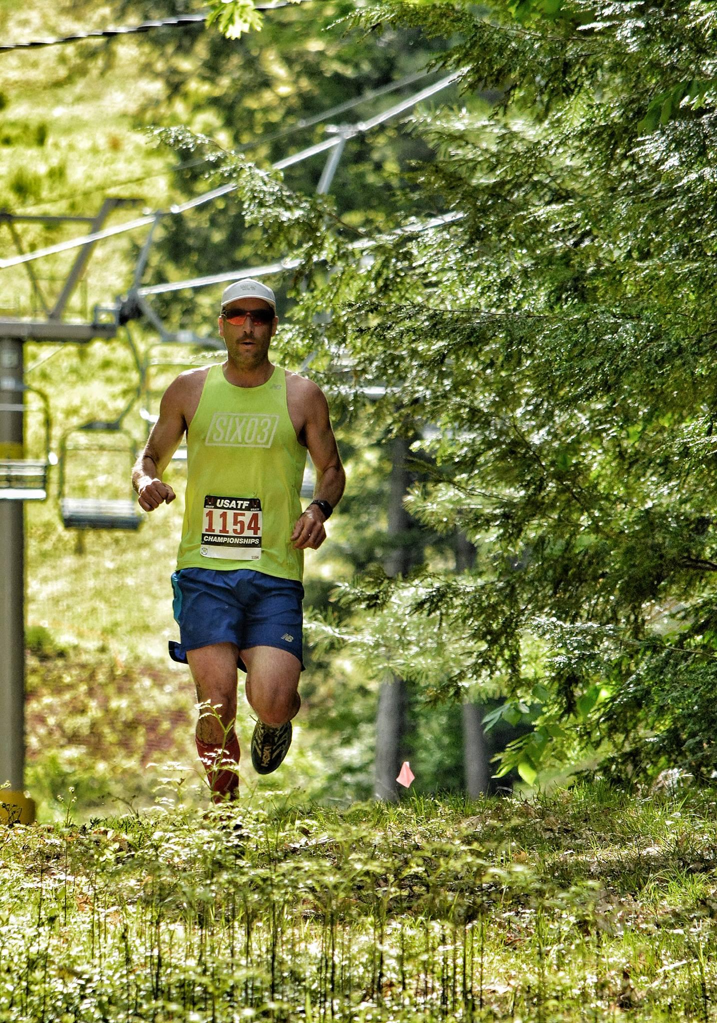 Grinding out the Cranmore Mountain Race. Photo:  Jason Denver