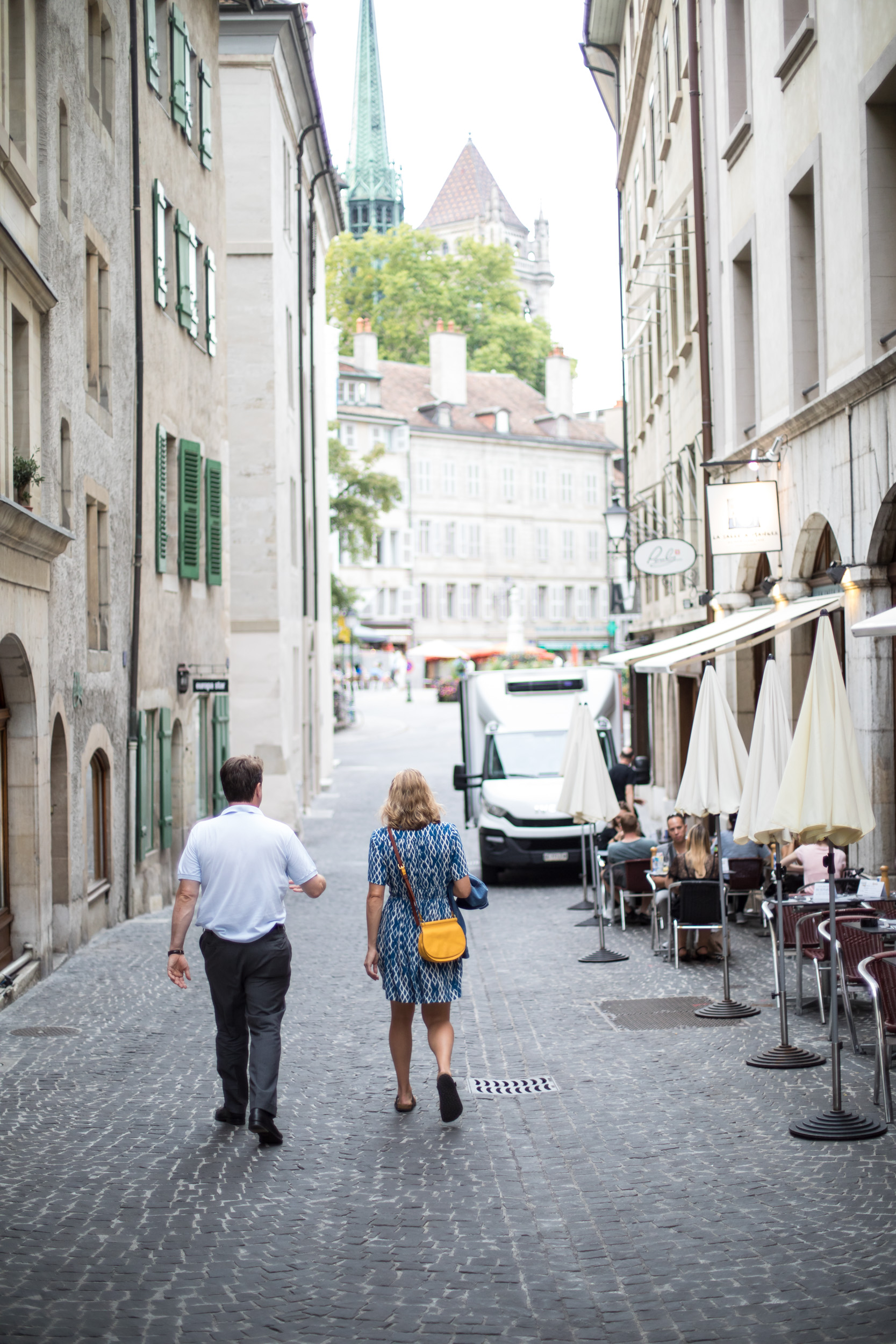 Hilary and Marco in Old Geneva.