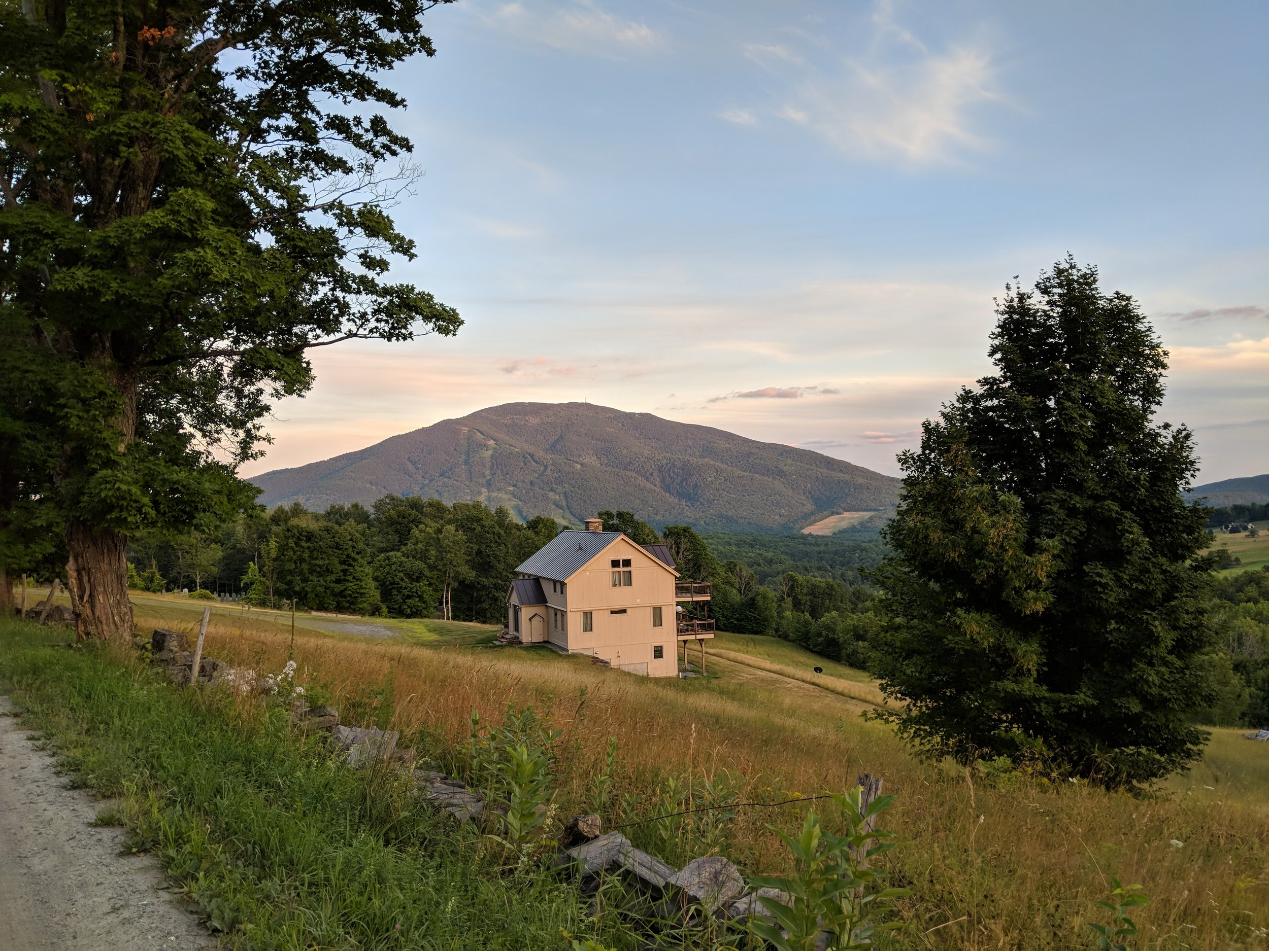 Golden Hour, view of Ascutny.