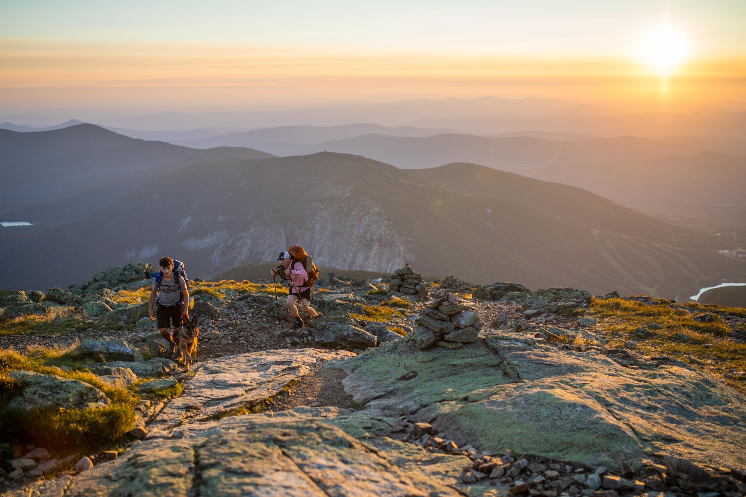 Hikers on Lafayette Franconia Ridge.JPG