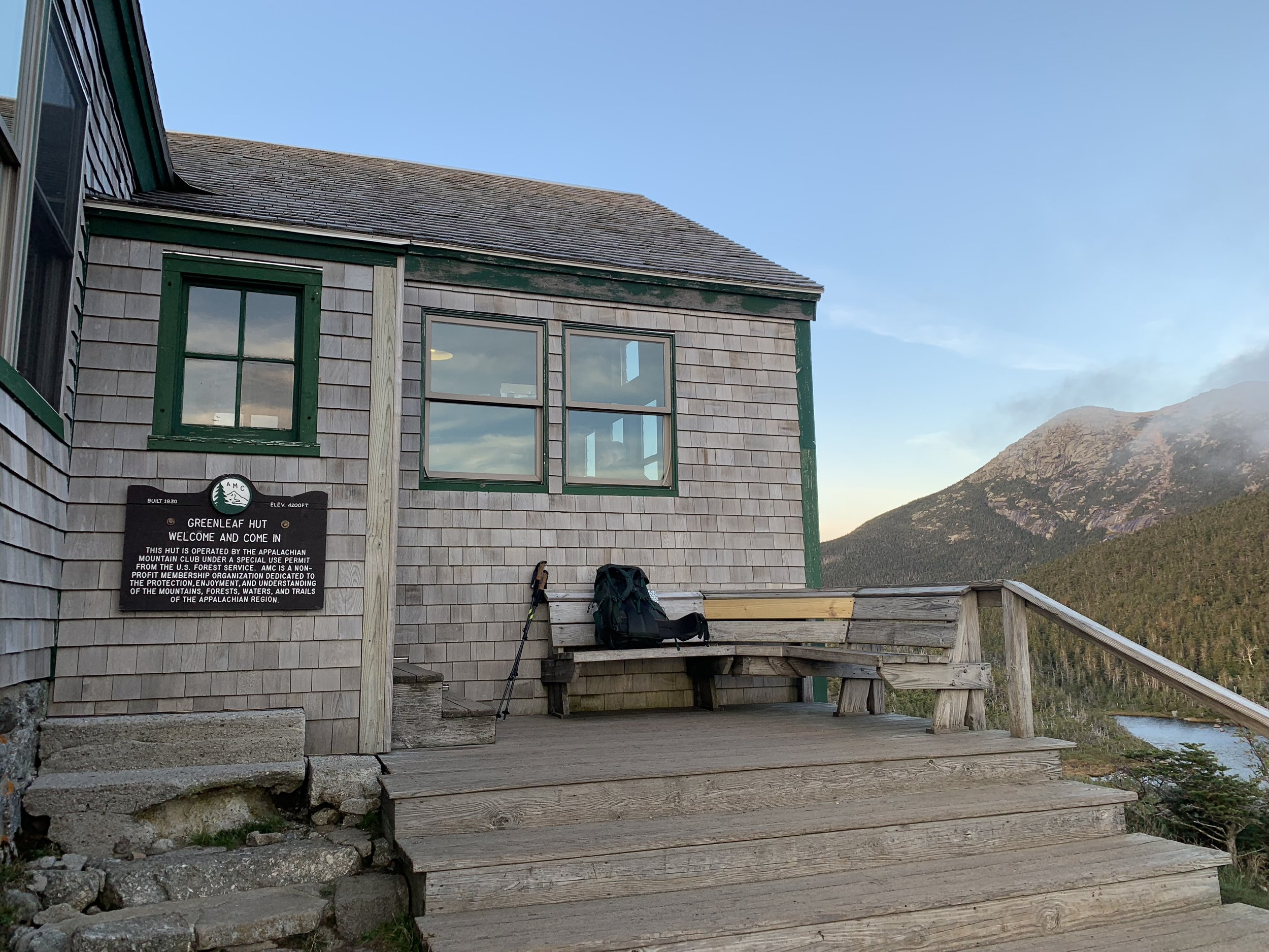 Greenleaf Hut, just one hut left.