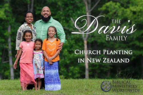 Pink and Selena Davis are missionaries to New Zealand. They serve with Biblical Ministries Worldwide.