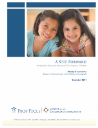 A Step Forward    : Immigration Executive Action & Our Nation's Children