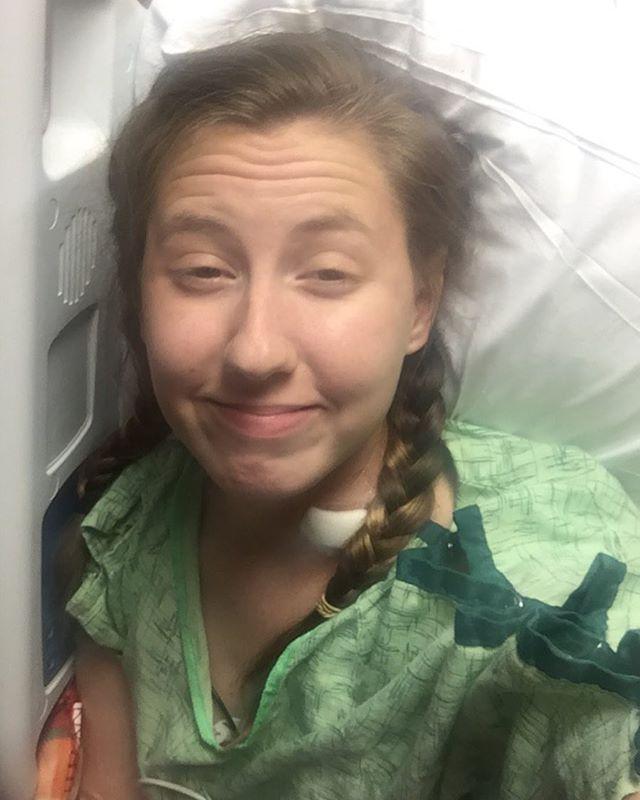 Bree's real hospital selfie