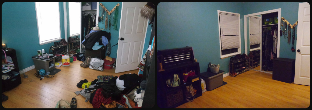 Before (left)  and After (right) - Closet 2