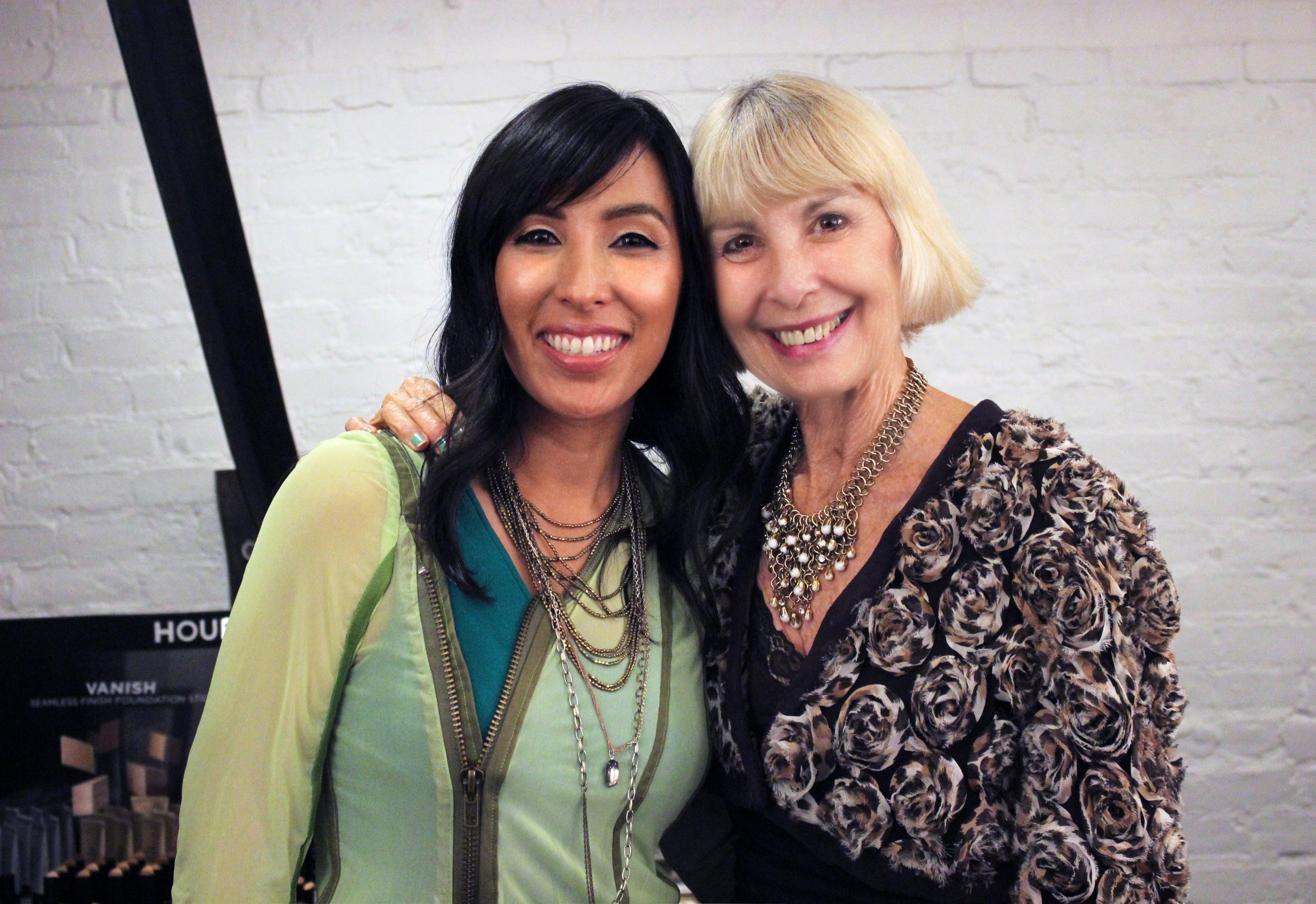 Debuting my jacket with Suzzy at my ColorFest makeup & style class at Hourglass Abbot Kinney