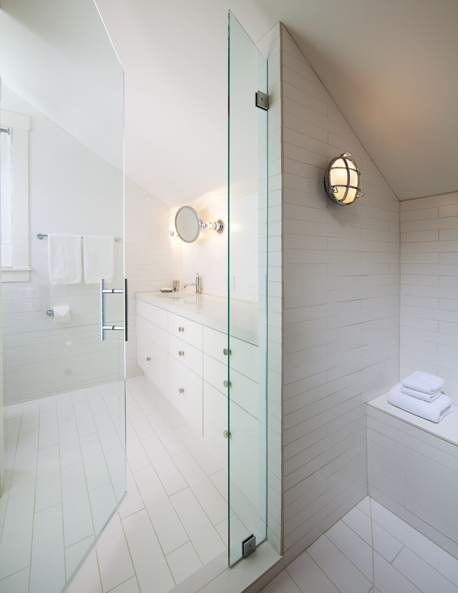 View from shower of master bath en suite.