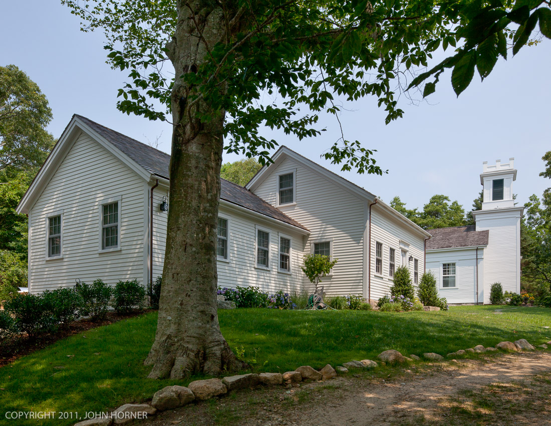 Front view of parsonage addition.