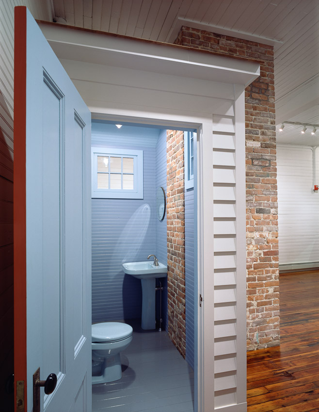 Bathroom resembles a small cottage in this renovation.
