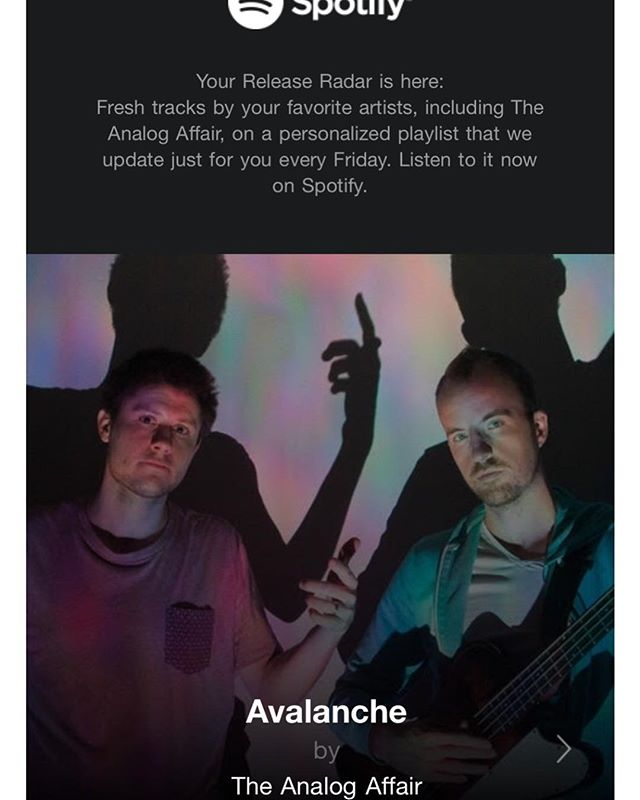 #spotify #releaseradar #theanalogaffair #avalanche #newmusic