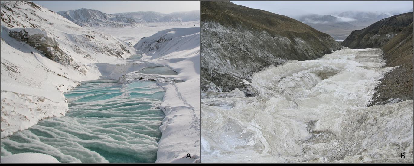 Seasonal differences between one of my field sites on Axel Heiberg Island, Nunavut