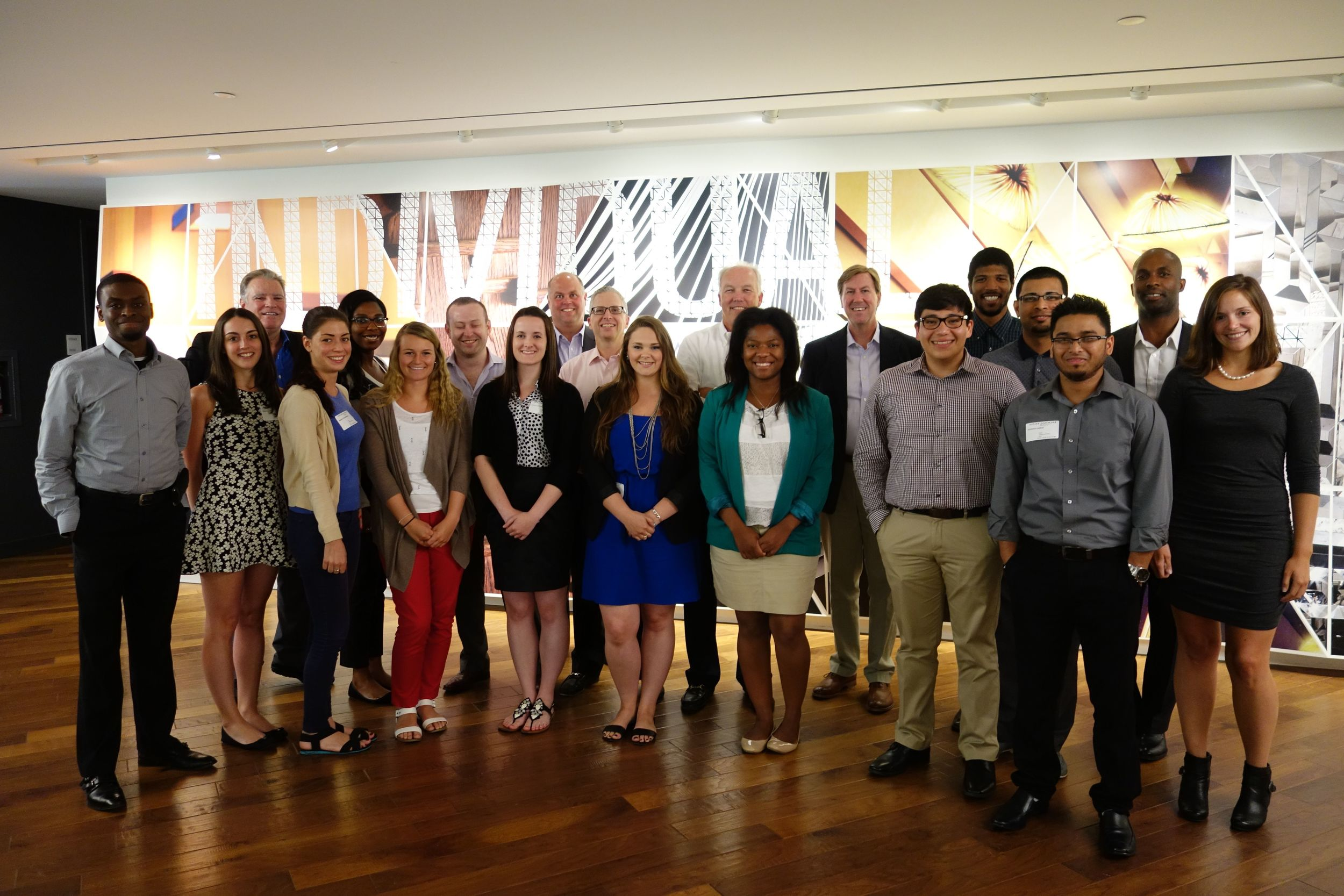 The 2014 interns at the Starwood Experience at Starwood Headquarters in Stamford, CT.