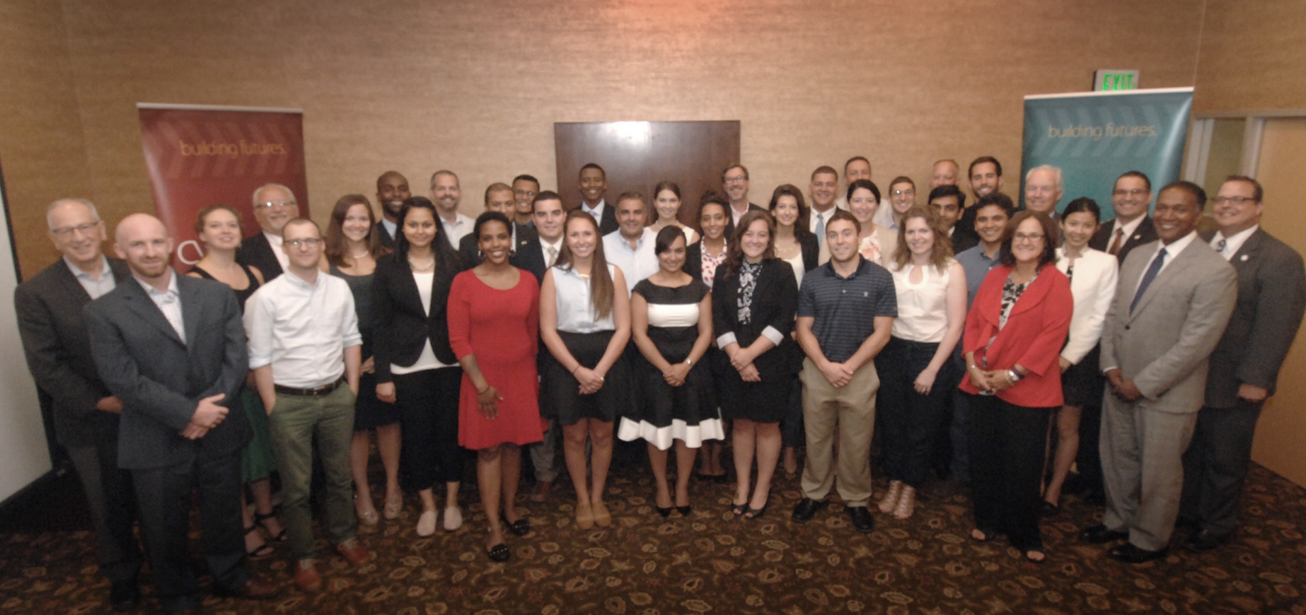 The 2015 interns and employers at the Closing Ceremony.