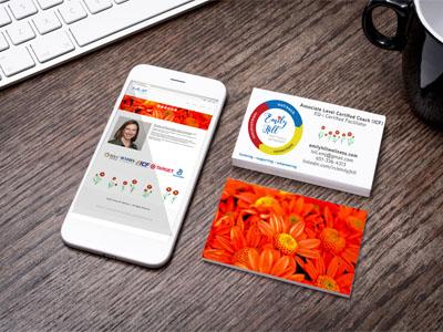 Mobile Website Business Card Design