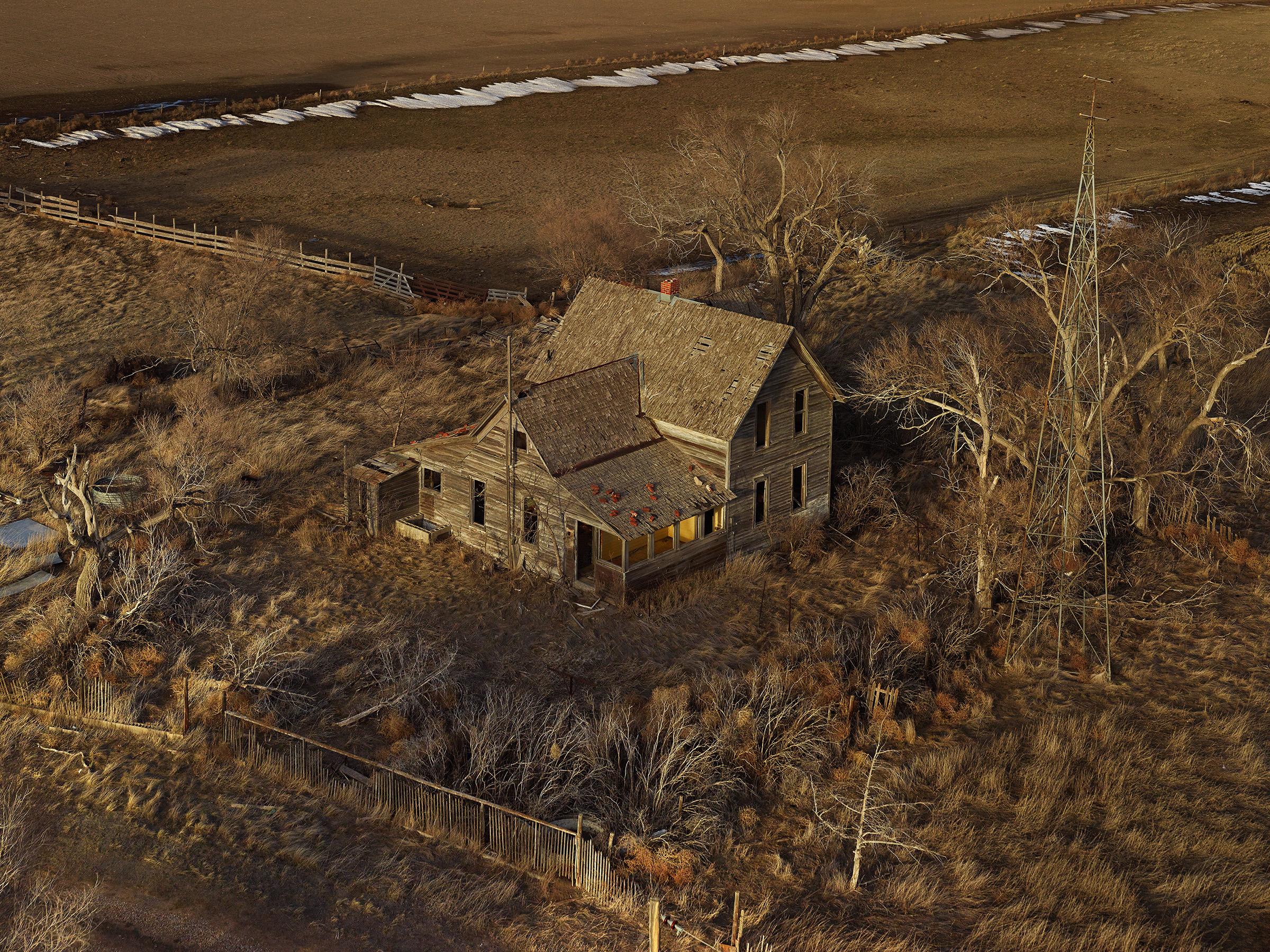Image © Andrew Moore.  The Yellow Porch,  Sheridan County, Nebraska 2013