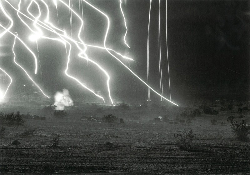 Image © An-My Lê.  29 Palms: Night Operations III , 2003-04. Gelatin silver print, 26 1/2 x 38 inches. Courtesy of Murray Guy Gallery and An-My Lê.