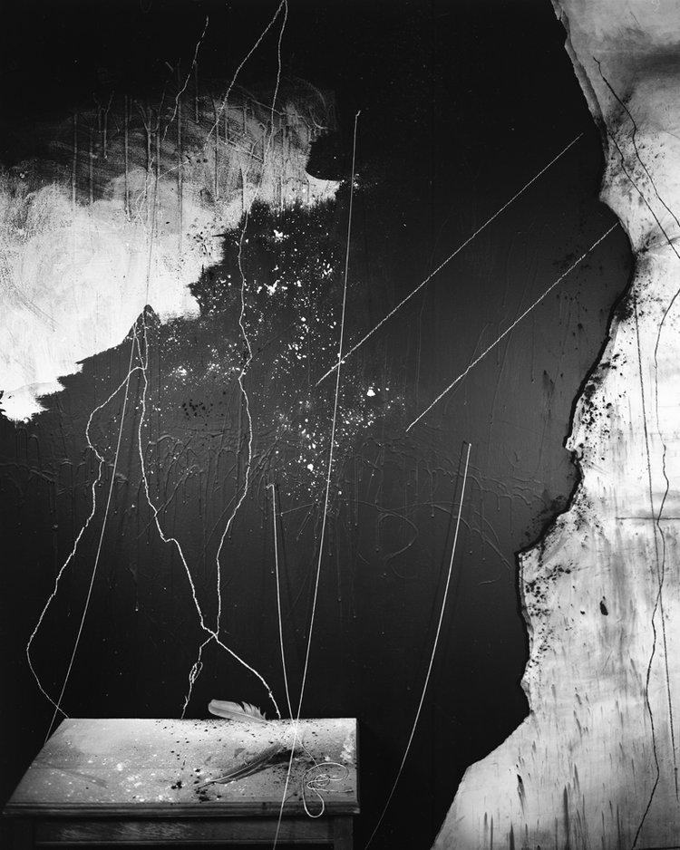 © Lauren Semivan.   Flour, Chalk, Feathers  , 2017.