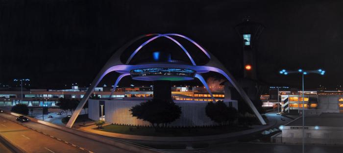 LAX Theme Building Panorama At Night