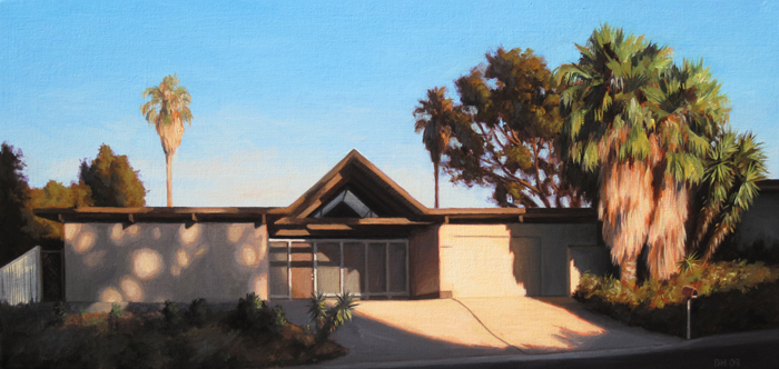 Eichler House At Sunset