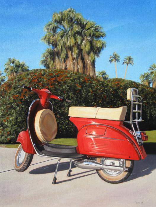 Palm Springs Red Vespa