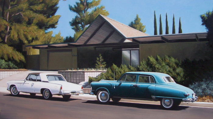 Eichler House With Automobiles