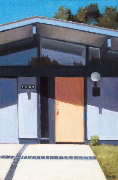 Eichler Door Orange and Blue