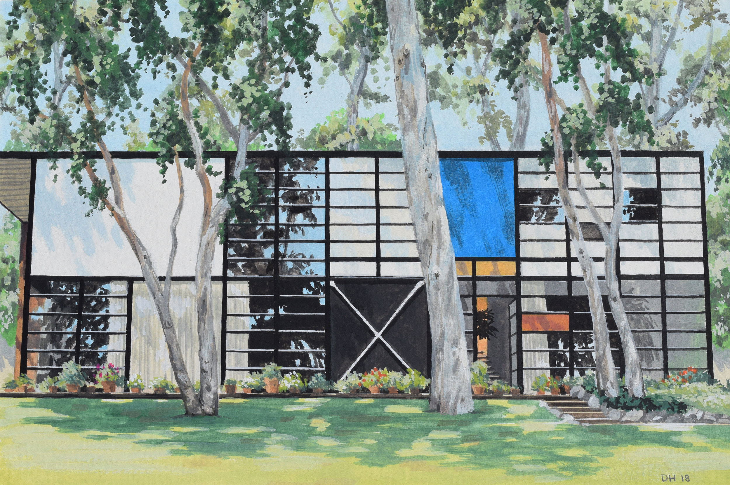 Eames House Panorama sized.jpg