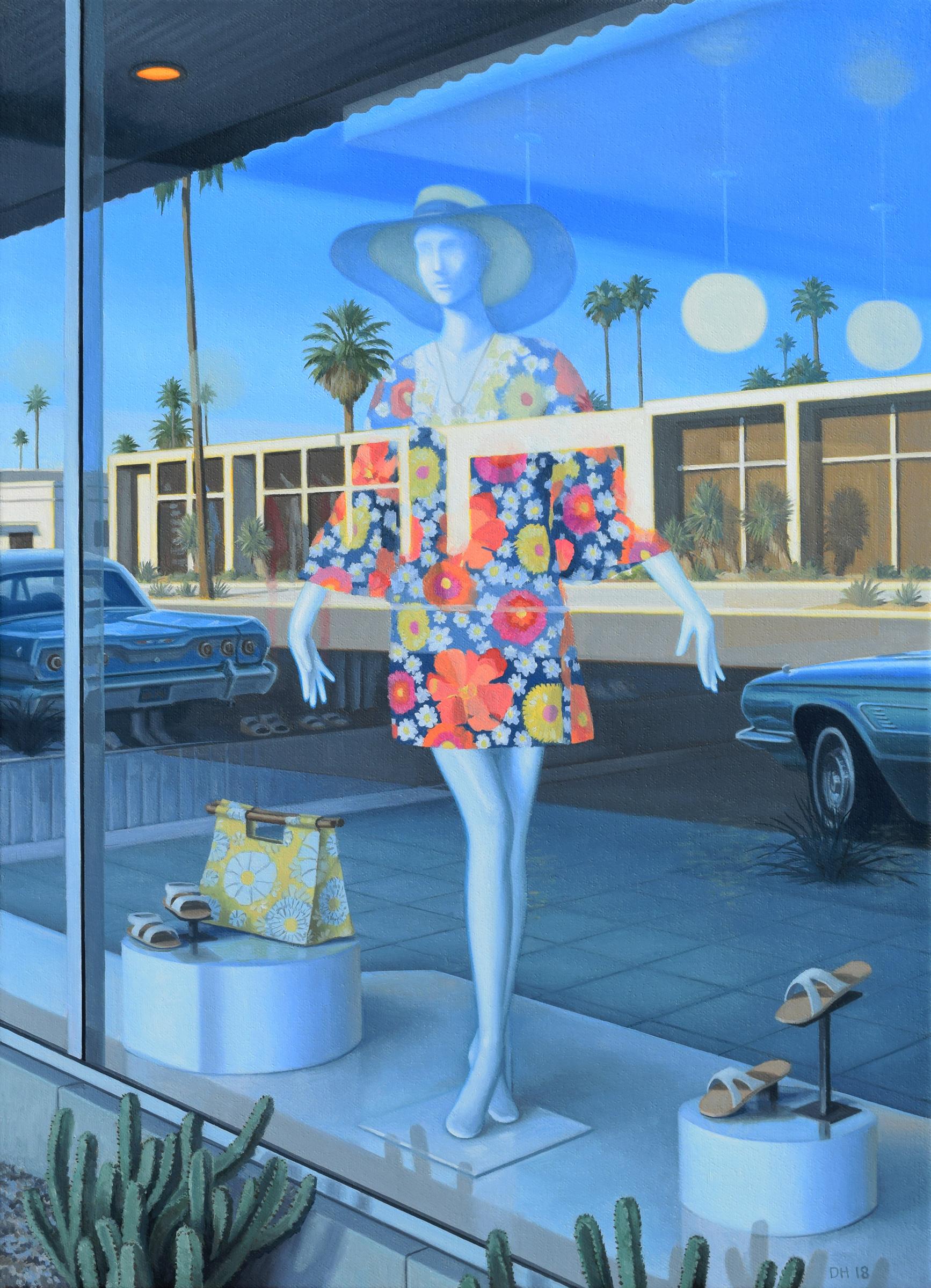 "Summer Shopping , oil on canvas, 18x13,"" 2018"