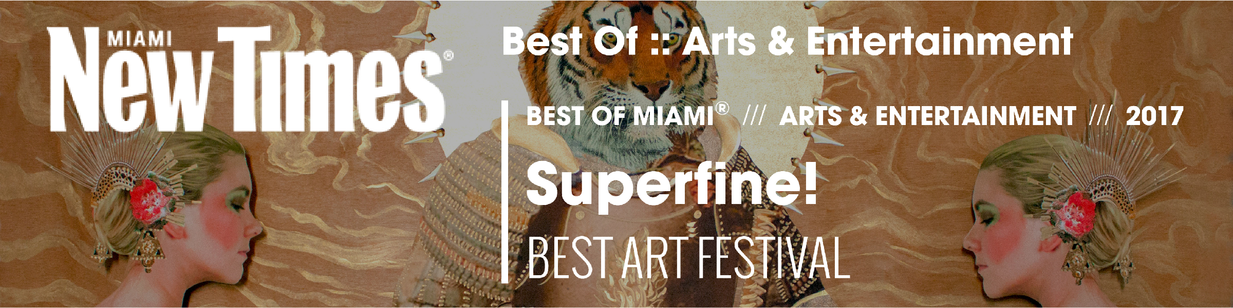 """""""Art Basel and Miami Art Week, at heart, are a rich person's playground, full of white tents housing bajillion-dollar works of art... But then Superfine! hit the scene.""""  - Miami New Times,6.13.17"""
