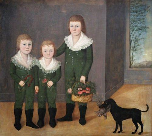 The Westwood Children , Joshua Johnson (c. 1807) Image: Creative Commons