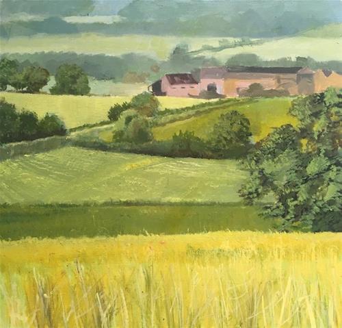 Dennis-Crayon-Golden Landscape I -8x8-oil-on-Panel.jpg