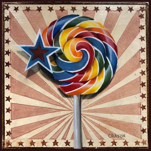Dennis-Crayon-Swirl lollipop-8x8-oil-on-Panel.jpg