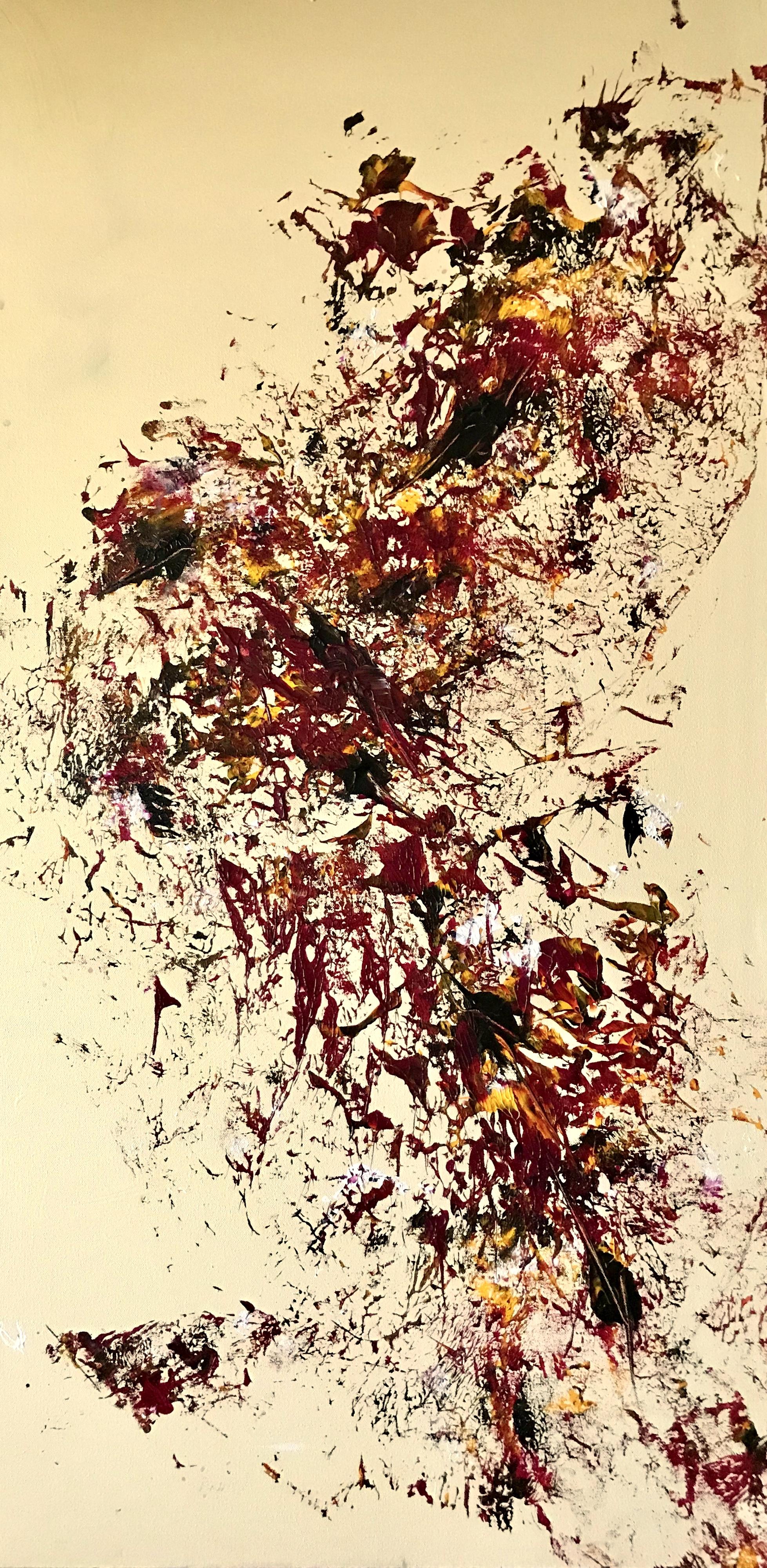 Sheila Cahill - _Flight Pattern_ - 50 x 26 - Acrylic on Canvas - 2018 - $1200 .jpg