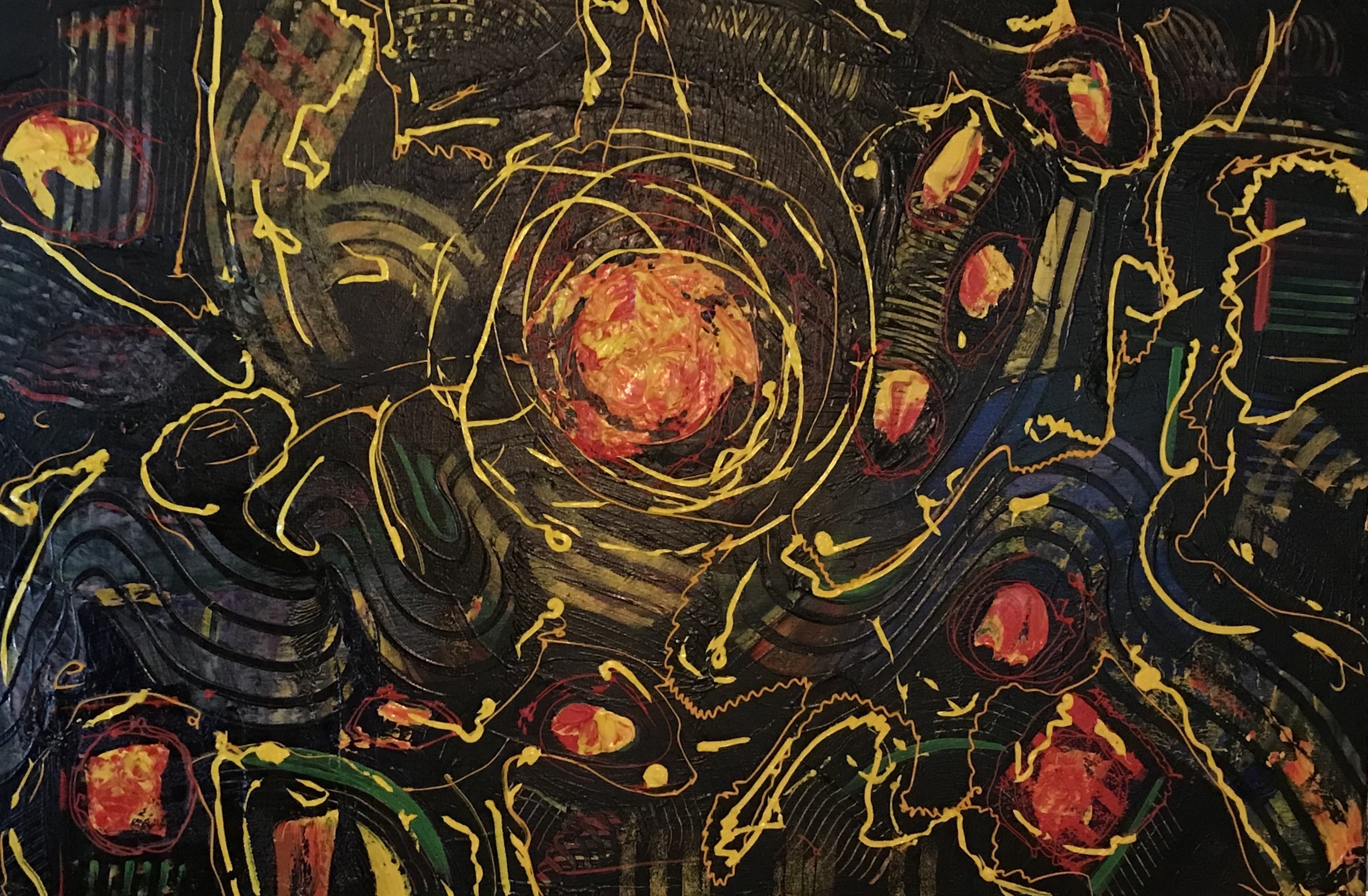 Sheila Cahill - _Hot Spot_ - 26 x 38 - Acrylic on Canvas - 2018 - $1100.jpeg