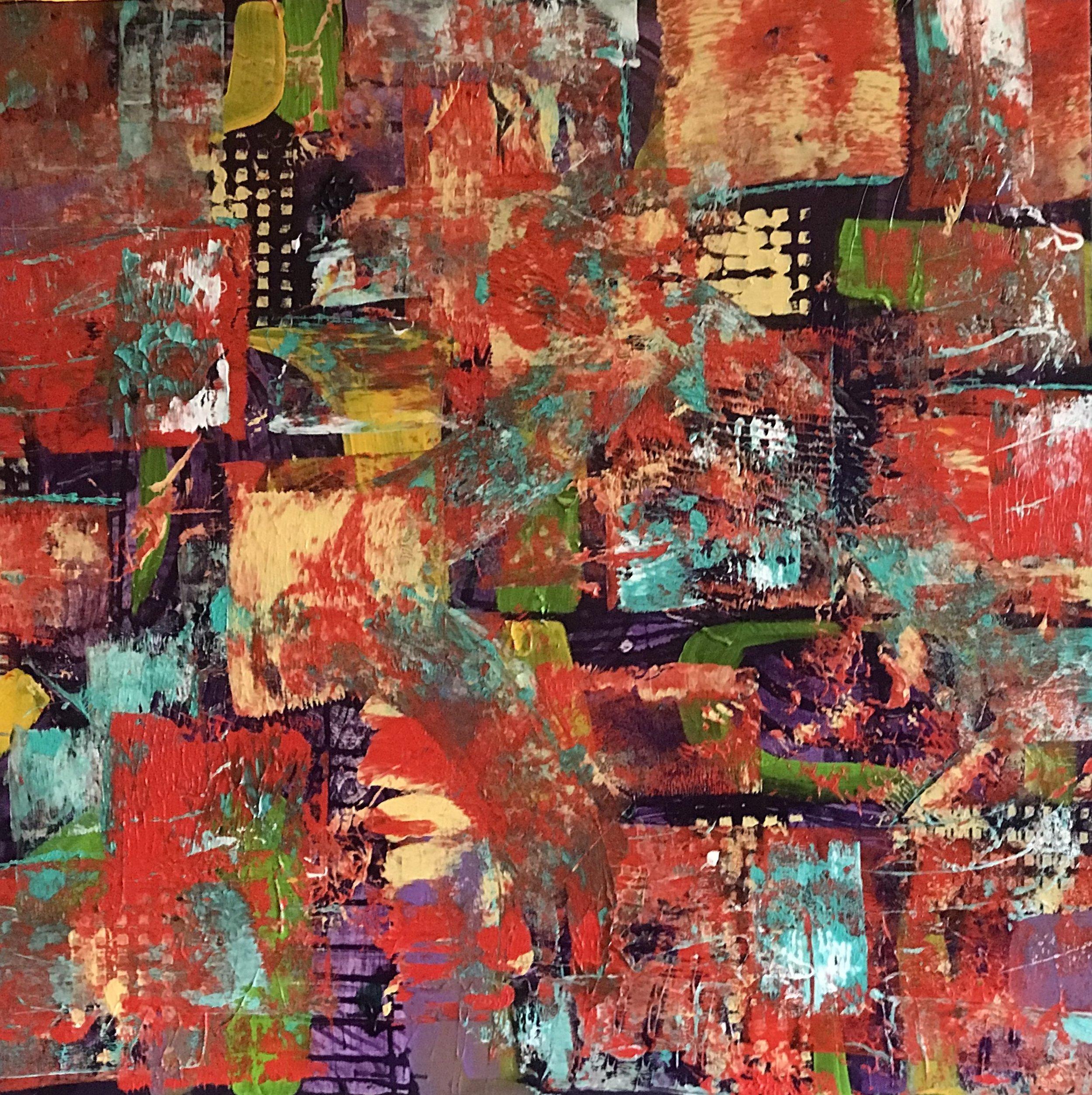 Sheila Cahill - _Hot Tomato_ - 30 x 30 - Acrylic on canvas - 2018 - $900 copy.jpeg