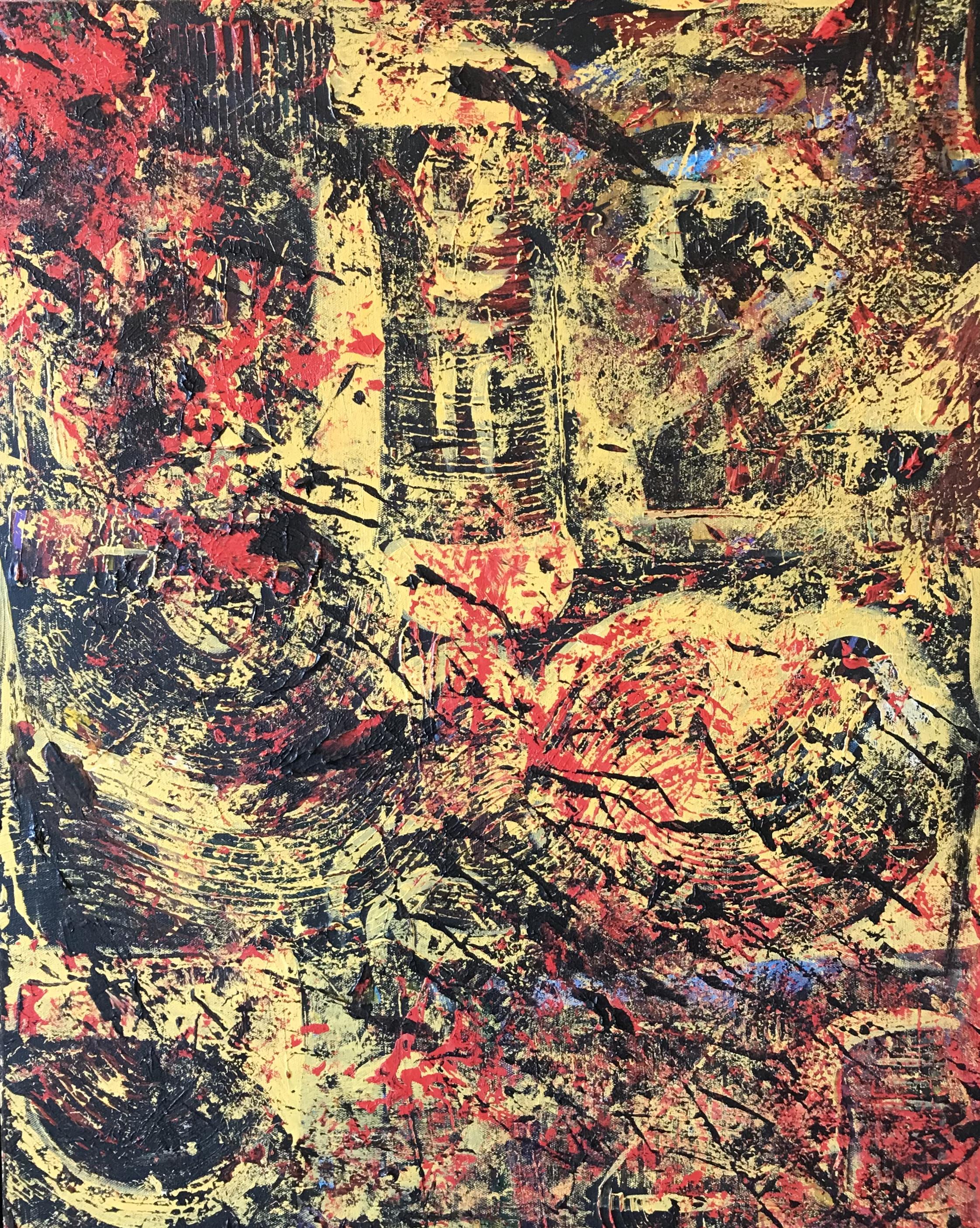 Sheila Cahill - _Spindle_ - 26 x 38 - Acrylic on canvas - 2018 - $1100 copy.jpeg