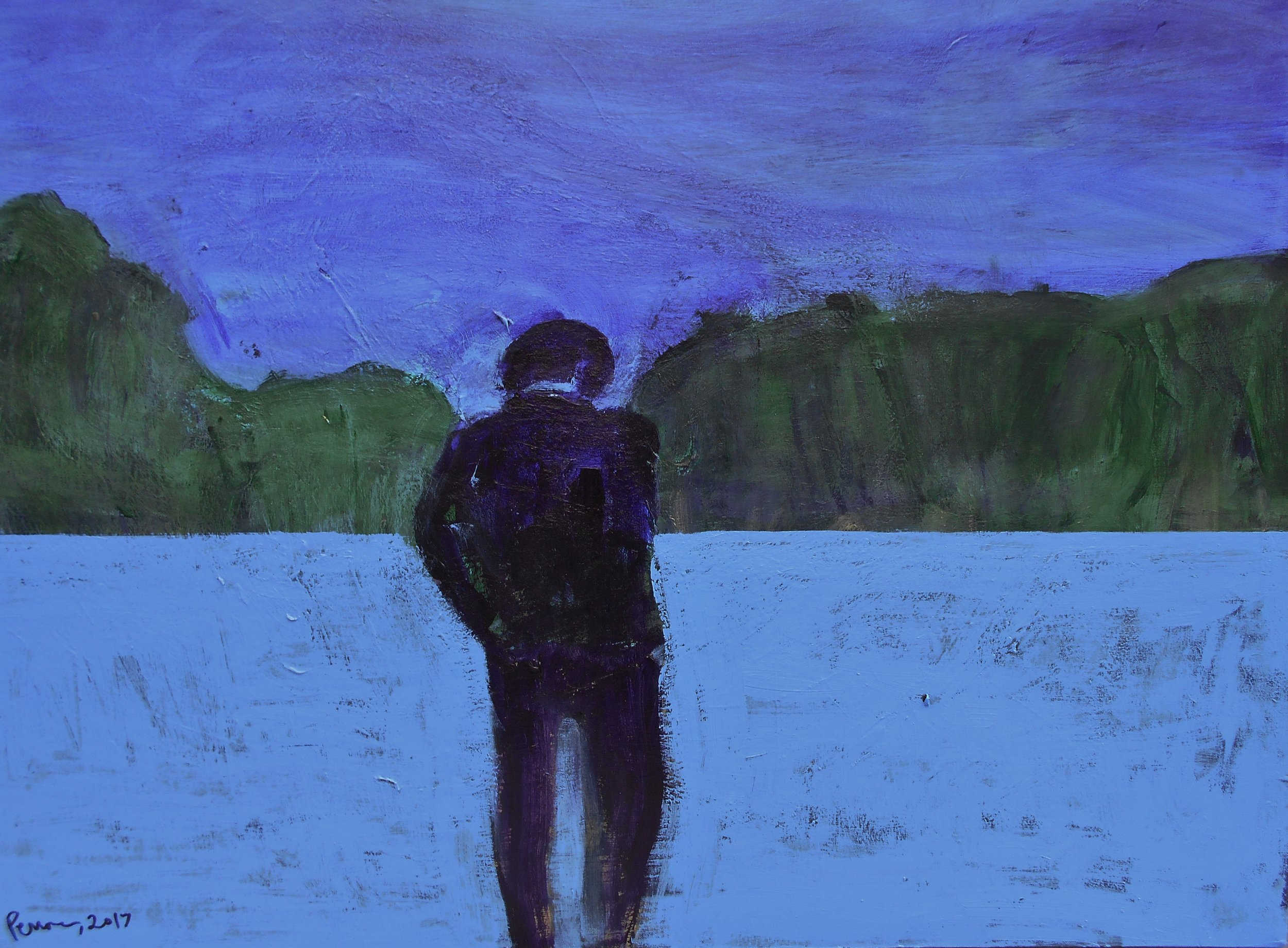 #1 Stephen Perrone -Walking Away - 2017 30x40 - a on c - $1750.JPG