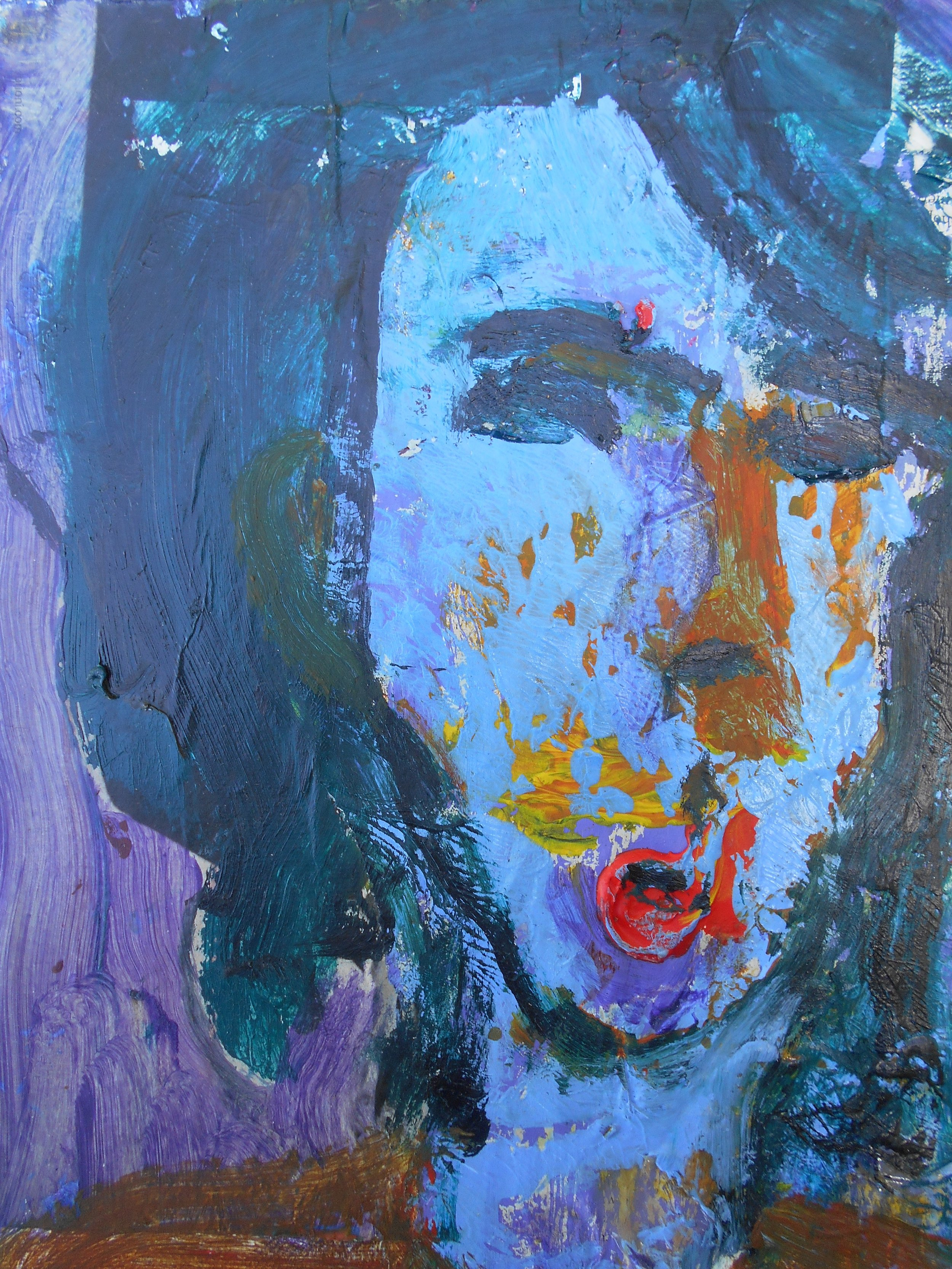 #7 Stephen Perrone - Woman with Red Mouth - 2010 - 12x9 - a on c _ paper - $250.JPG
