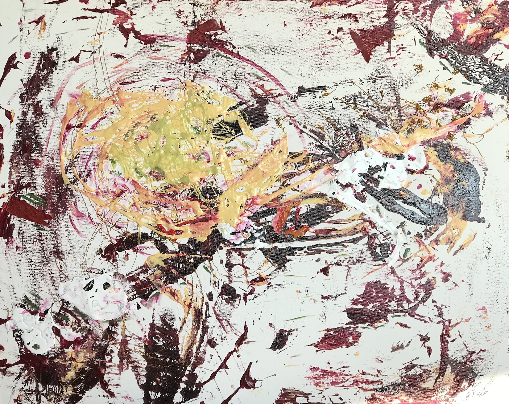 Sheila Cahill - 'You Have to Break Some Eggs...' - 24 x 30 - Acrylic on canvas - 2018 - $900.jpg