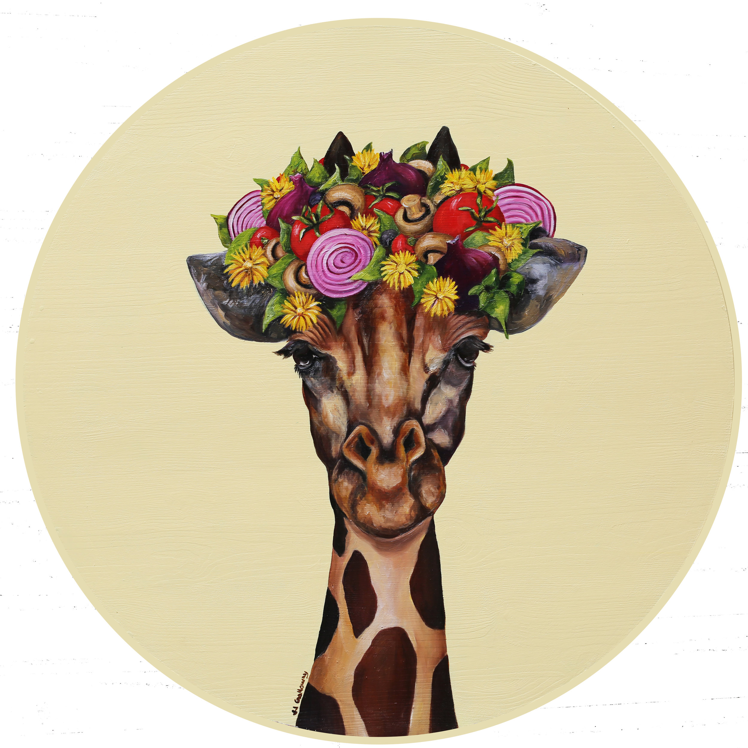 Giraffe with a Pizza Flower Crown.jpg
