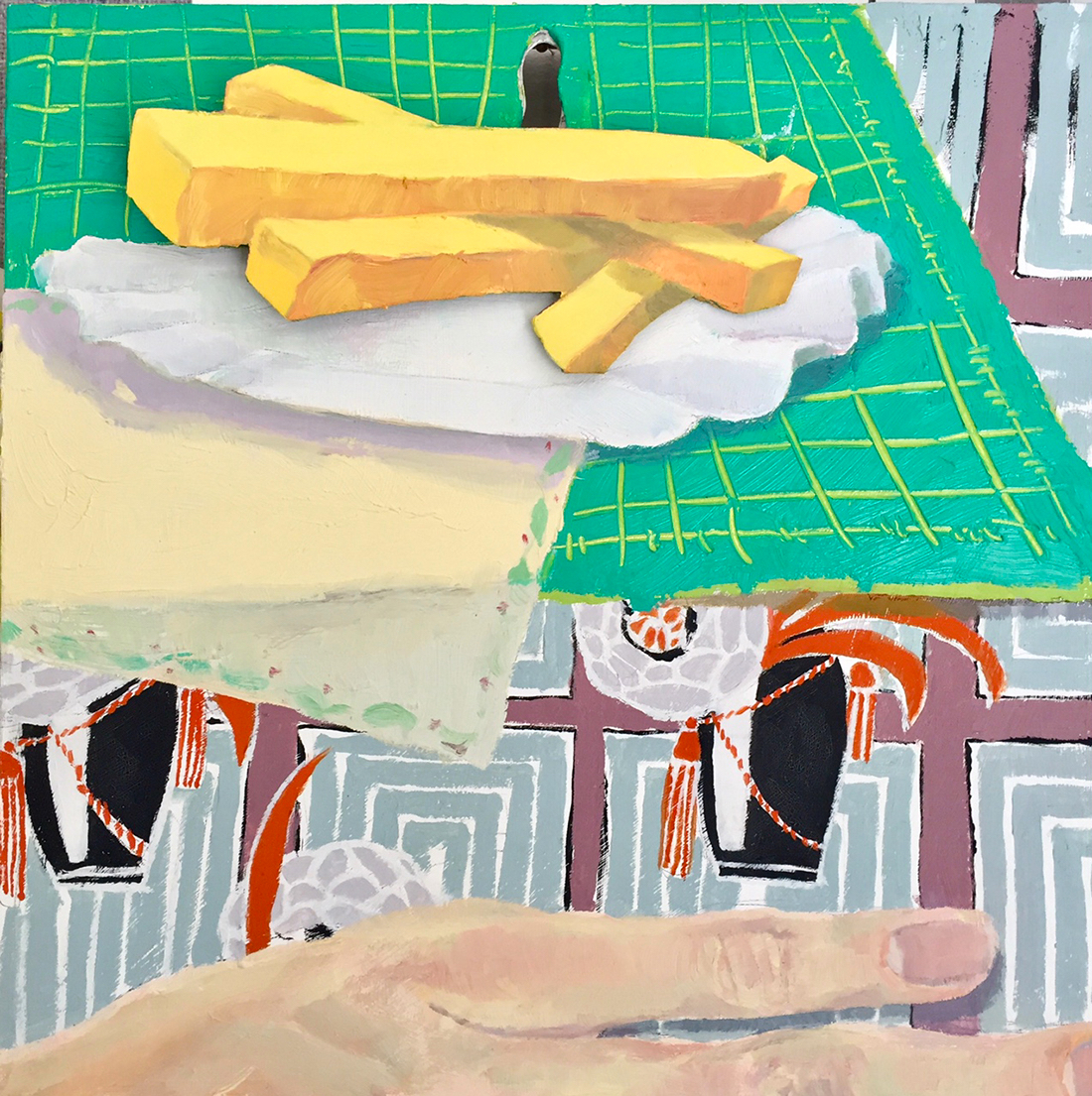 ASM_Andrew Brown_Fries that Wiggle_12x12_Oil and acrylic on panel, kinetic painting_250.jpg