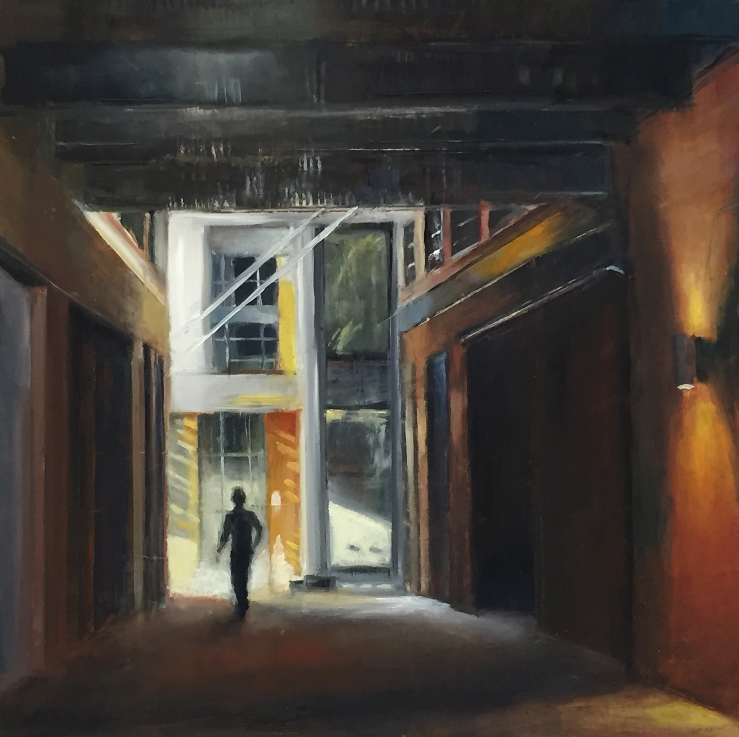 GalleryOonH-Cathy Abramson-Wharf Alley-2018-Oil on Canvas-12x12-600.jpg