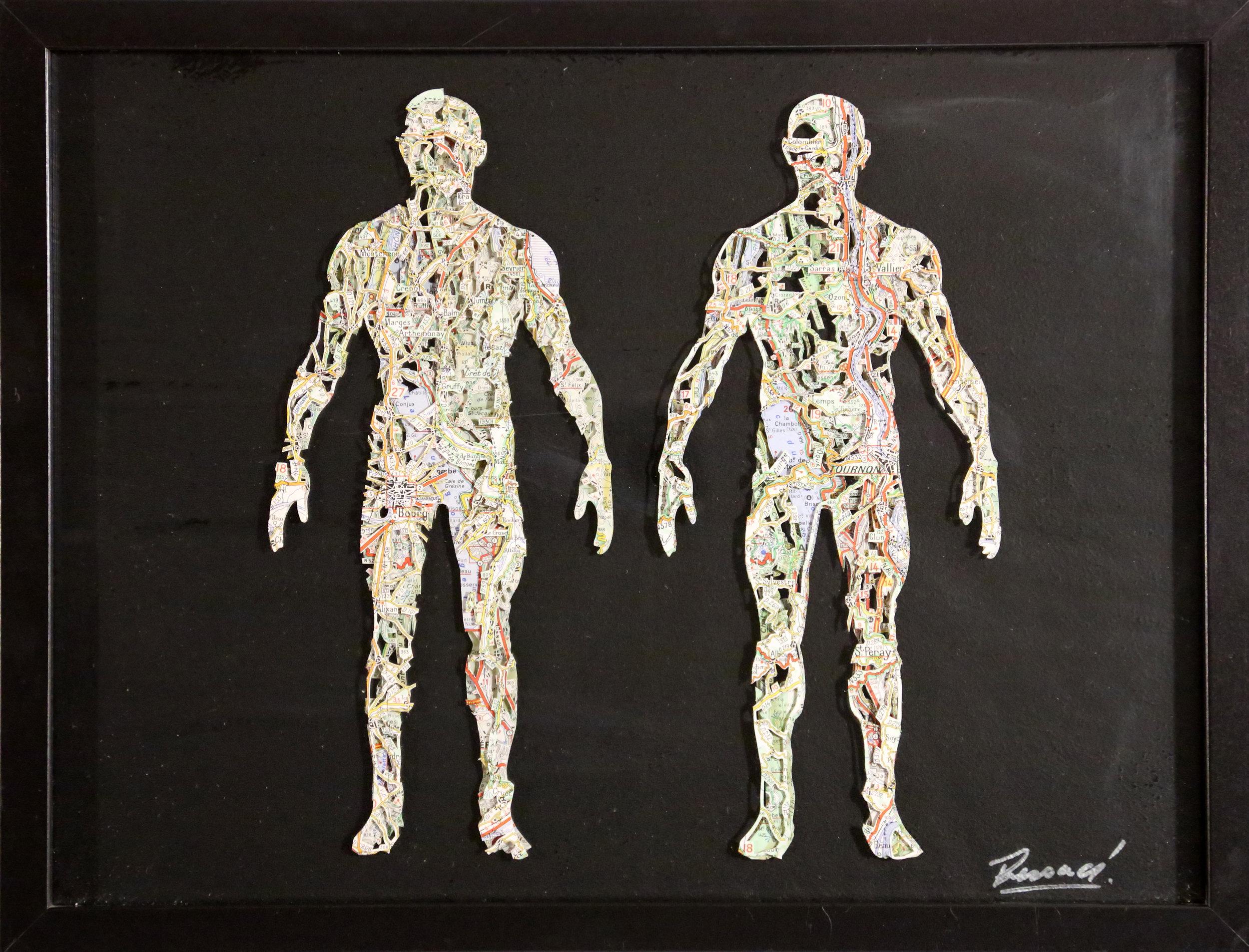 GalleryOonH-Joanathan Bessaci-Anatomy 1-2017-Michelin maps and glass-12x16-1000.jpg