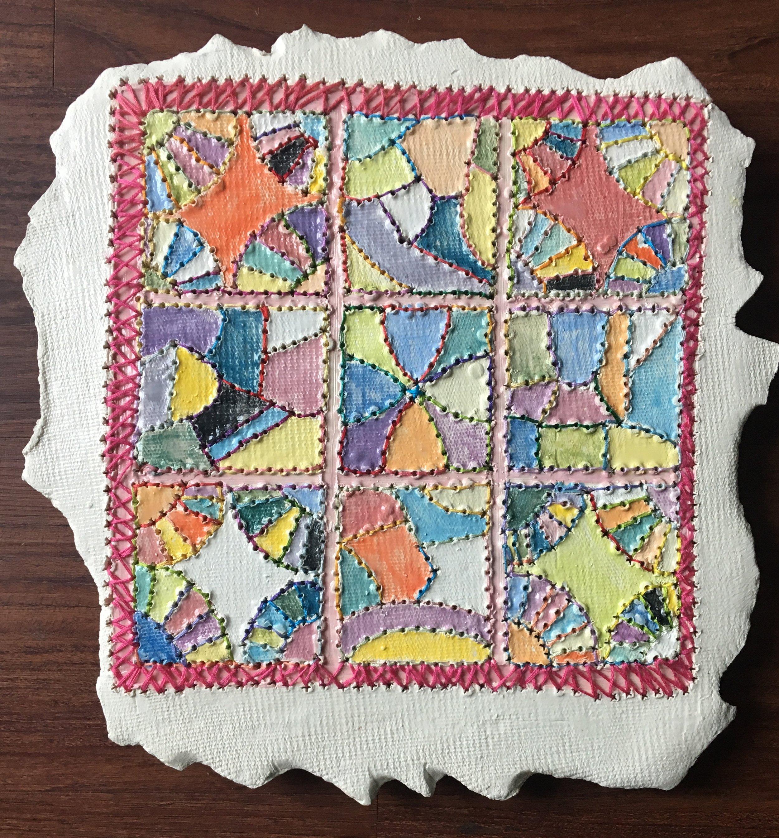 GalleryOonH-Kasse Andrews Weller-Remnant Quilt-2018-Ceramic-11x11-450.jpg