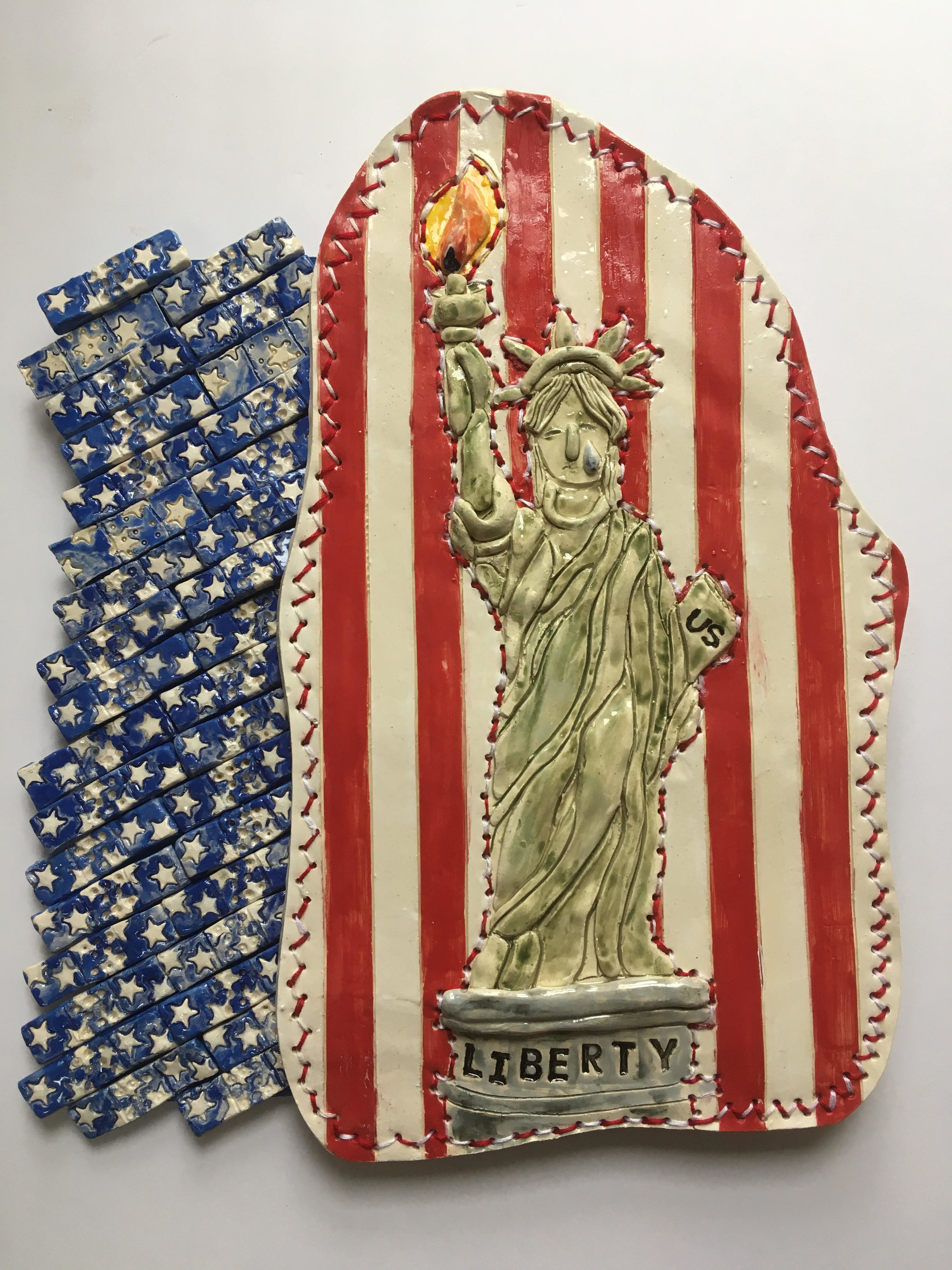 GalleryOonH-Kasse Andrews Weller-Statue of Liberty Weeps-2016-Ceramic-14x17-650.jpg