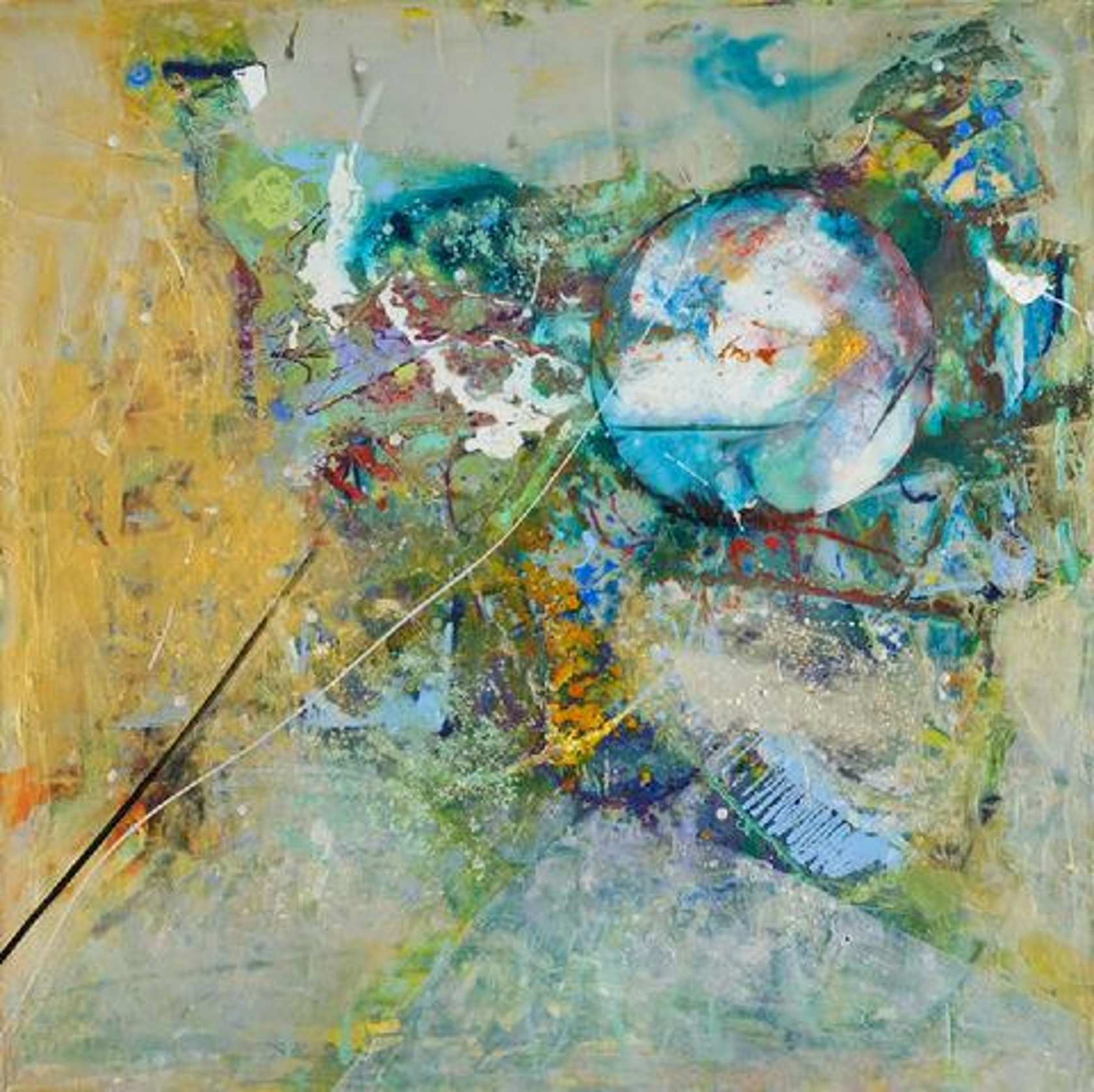 Zenith Gallery- Anne Marchand- Saying-2013- acrylic and mixed media on canvas- 36h x 36w- $5000.jpg